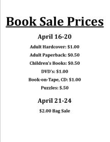 Book sale prices 2018